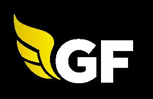 gf money white logo